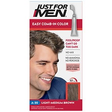 Just For Men AutoStop Foolproof Haircolor Light-Medium Brown A-30
