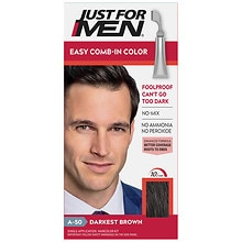 Just For Men AutoStop Foolproof Haircolor Darkest Brown A-50