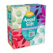 Angel Soft Facial Tissue White