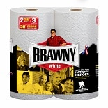 Brawny Paper Towels, Giant Rolls White