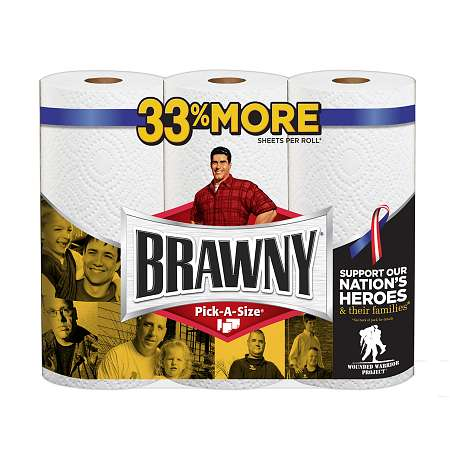 Brawny Paper Towels, Big Rolls, Pick-A-Size White