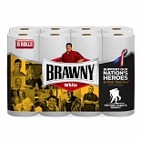Brawny Paper Towels, Regular Rolls White