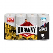 Brawny Paper Towels, Giant Rolls, Pick-A-Size White