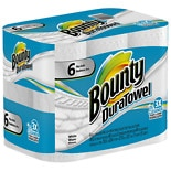Bounty DuraTowel Plus Roll Paper Towels, White