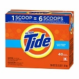 Tide Ultra Powder Laundry Detergent, 40 Loads Clean Breeze