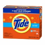 Tide Ultra HE Powder Laundry Detergent, 40 Loads Clean Breeze