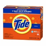 Tide Ultra HE Powder Laundry Detergent, 40 Loads Original