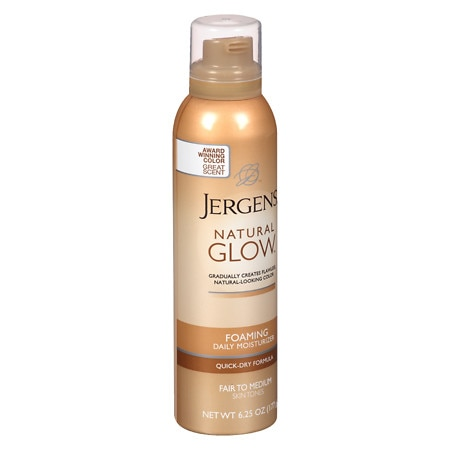 Jergens Natural Glow Foaming Daily Moisturizer Fair to Medium