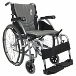 Karman 20in Seat Ultra Lightweight Ergonomic Wheelchair Silver