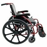 Karman 18in Seat Ultra Lightweight Ergonomic Wheelchair Red