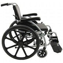 Karman 18in Seat Ultra Lightweight Ergonomic Wheelchair Silver