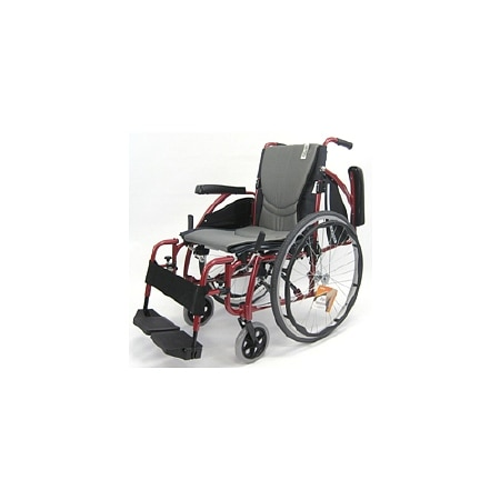 Karman 16in Seat Ergonomic Transport Wheelchair Red