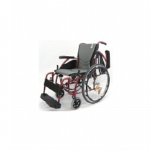 Karman 18in Seat Ergonomic Transport Wheelchair Red