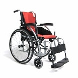Karman 18in Seat Ergonomic Transport Wheelchair Orange