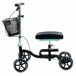 Luxury Lightweight 4-Wheeled Knee Walker with BasketBlack