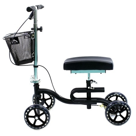 Karman Luxury Lightweight 4-Wheeled Knee Walker with Basket Black