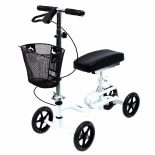 Luxury Lightweight 4-Wheeled Knee Walker with BasketWhite