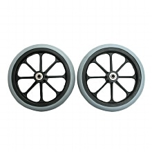Karman 8x1in Front Caster with 5/16in Bearing Black