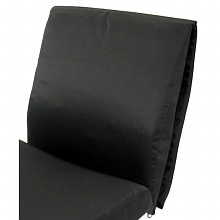 Karman 16in Memory Foam Back Cushion Black
