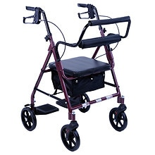 Karman Rollator and Transport Combo Bergundy