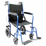 19in Seat Lightweight Transport Chair Blue