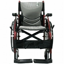 Karman 16in Seat Ultra Lightweight Ergonomic Wheelchair Red