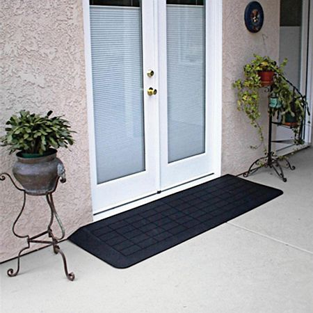PVI Slate Rubber Threshold 41 inch Black