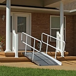 PVI Solid Ramp With Handrails 4 ft X 36 in Wide