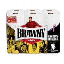 Brawny Paper Towels, Big Rolls White