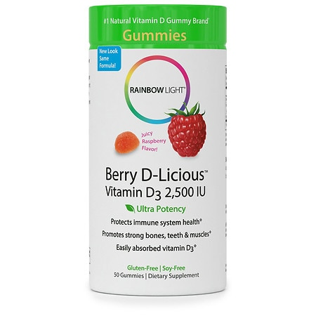 Rainbow Light Vitamin D3 2,500 IU Gummies Raspberry