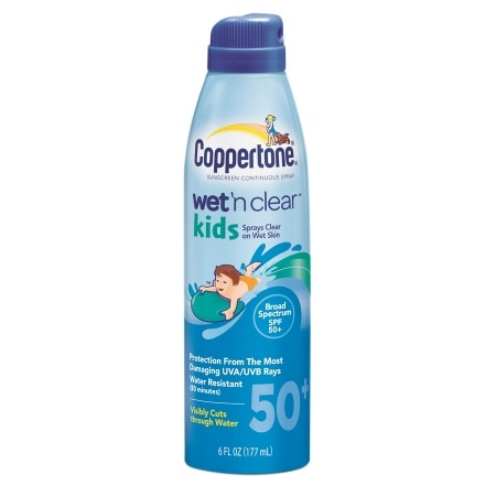 Coppertone Wet 'n Clear Kids Sunscreen Continuous Spray, SPF 50+