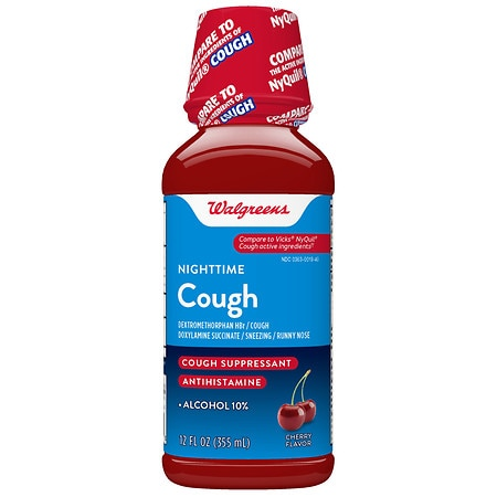 Walgreens Nighttime All Night Cough Relief Cherry