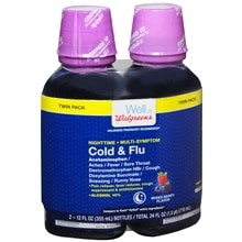 Walgreens Multi-Symptom Nighttime Cold & Flu Relief Mixed Berry