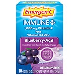 Immune+ System Support Dietary Supplement Powder 10 Pack Blueberry-Acai