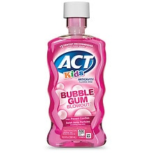 ACT Kids Anti-Cavity Fluoride Rinse Bubblegum