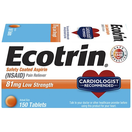 Ecotrin 81 mg Low Strength Safety Coated Aspirin Tablets