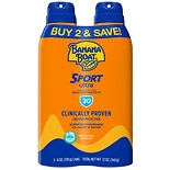 Banana Boat Sport Performance Continuous Spray Sunscreen, SPF 30, Twinpack