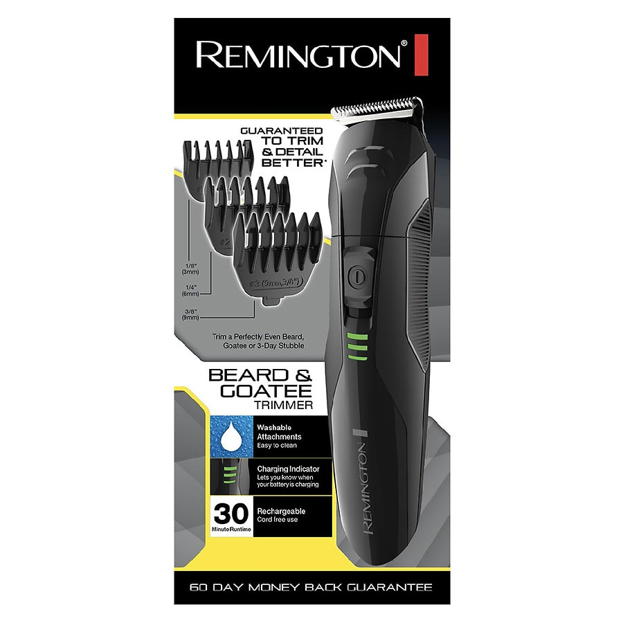 remington stubble beard trimmer pg6015b black walgreens. Black Bedroom Furniture Sets. Home Design Ideas