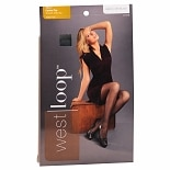 West Loop Control Top Sheer Toe Sheer Pantyhose C Off Black