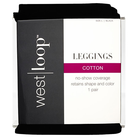 West Loop Cotton Leggings Large Black