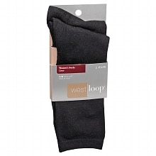 West Loop Women's Crew Socks 4-10 Black