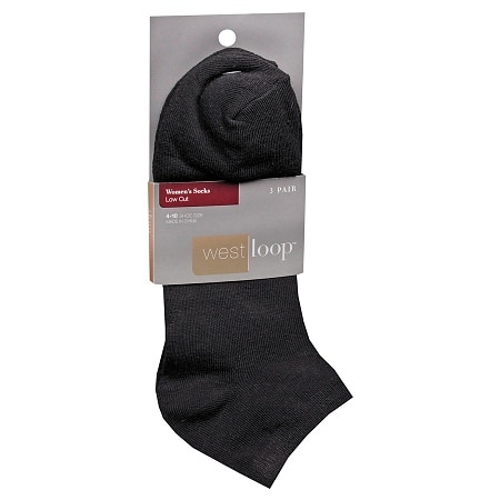 West Loop Women's Low Cut Socks 4-10 Black