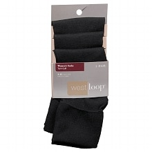 West Loop Women's Turn Cuff Socks 4-10 Black