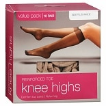 Walgreens Reinforced Toe Knee Highs Plus Nude