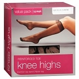 wag-Reinforced Toe Knee Highs PlusSuntan