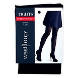 West Loop Sheer-to-Waist Opaque Tights M Black