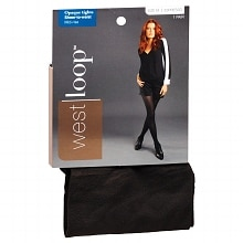 West Loop Sheer-to-Waist Opaque Tights M Espresso