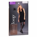 West Loop Control Top Sheer Toe Support Pantyhose Size B B Off Black