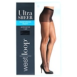 West Loop Reinforced Panty Sheer Toe Ultra Sheer Pantyhose C Off Black