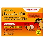 Walgreens Ibuprofen Children's Chewable Tablets Orange